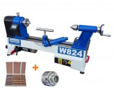 Charnwood W824P2 Midi Woodturning Lathe,Viper 2 Chuck and Chisel Package