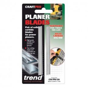TREND PB29 PORTABLE PLANER BLADE SET 82.0mm x 5.5mm X 1.1mm TC TWIN PACK