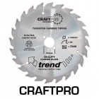 TREND CSB/NC18430A CRAFT SAW BLADE 184.0MM X 30.0MM X 30T NAIL CUTTING