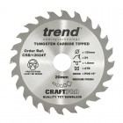 TREND CSB/12024T CRAFT SAW BLADE 120MM X 24T X 20MM