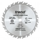 TREND CSB/13624T CRAFT SAW BLADE 136.0MM X 10.0MM X 24T THIN KERF