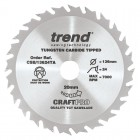 TREND CSB/13624TA CRAFT SAW BLADE 136.0MM X 20.0MM X 24T THIN KERF