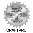 TREND CSB/13612TA CRAFT SAW BLADE 136.0MM X 20.0MM X 12T THIN KERF