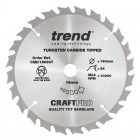 TREND CSB/16024T CRAFT SAW BLADE 160.0MM X 16.0MM X 24T THIN KERF