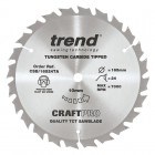 TREND CSB/16524TA CRAFT SAW BLADE 165.0MM X 10.0MM X 24T THIN KERF