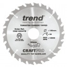 TREND CSB/16524TB CRAFT SAW BLADE 165.0MM X 30.0MM X 24T THIN KERF