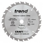 TREND CSB/16524TC CRAFT SAW BLADE 165.0MM X 15.88MM X 24T THIN KERF