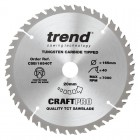 TREND CSB/16540T CRAFT SAW BLADE 165.0MM X 20.0MM X 40T THIN KERF