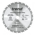 TREND CSB/18424T CRAFT SAW BLADE 184.0MM X 20.0MM X 24T THIN KERF