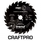 TREND CSB/TC19024T CRAFT SAW BLADE 190.0MM X 20.0MM X 24T NON STICK
