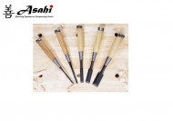 Asahi 5 Piece Japanese SK-5 Chisel Set In Roll