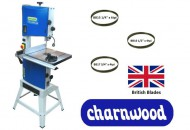 "Charnwood B300 12"" Premium Bandsaw (Package Deal) with 3 blades"