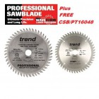 FREE Trend CSB/PT16048 Plunge Saw Blade with every Trend Professional FT/160x48x20A - Festool TS55,Dewalt,Bosch,Makita 1
