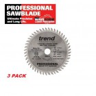 Trend - Dewalt,Bosch,Makita 3 PACK of Professional Plunge Saw Blades  165dia x 48t x 20bore - FT/165X48X20
