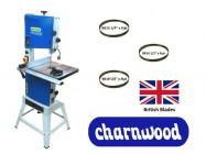 "Charnwood B300 12"" Premium Bandsaw (Package Deal 2) with 3 blades"