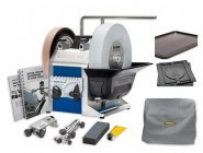 Tormek T-8 Wetstone Grinder Tormek T8 Sharpening System, Cover, Rubber Mat & Base Package