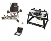 "TREND T5EB 1/4"" Router + CRT/MK3 Router Table + SS11 6pc 1/4\"" Cutter Set"