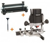 "TREND T5EB 1/4"" Plunge Router 240V + 300mm Dovetail Jig + FHA +3yr Warranty"