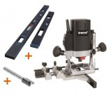 "TREND T5EB 1/4"" Plunge Router 240V +2pc Hinge Jig A + Cutter + 3yr Warranty"