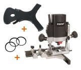 "TREND T5EB 1/4"" Plunge Router 240V +18mm Routabout Jig +Rings +3yr Warranty"