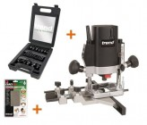 "TREND T5EB 1/4"" Plunge Router 240V +24pc Cutter Set +Diamond Stone +3yr Warranty"