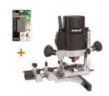 "Trend T5 T5EB 1000W 1/4"" Collet Plunge Router 240V + Diamond Credit Card"