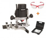 "TREND T5EB 1/4"" Plunge Router 240V + SS11 6pc Cutter Set + Specs + 3yr Warranty"