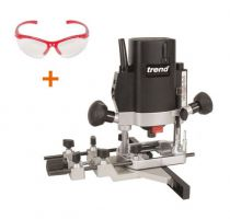 "Trend T5EB 1000W 1/4"" Variable Speed Plunge Router 240V - with Trend safety specs - £149.16 INC VAT"