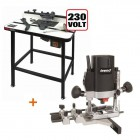 "TREND T5EB 1/4"" Plunge Router 240V + Trend WRT Router Table + 3yr Warranty"