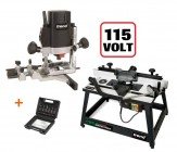 "TREND T5ELB 110v 1/4"" Router+CRT/MK3L Router Table+SS11 6pc Cutter Set"