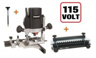 "TREND T5ELB 1/4"" Plunge Router 110V + 300mm Dovetail Jig + FHA +3yr Warranty"