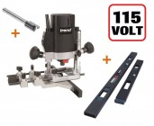 "TREND T5ELB 1/4"" Plunge Router 110V +2pc Hinge Jig A + Cutter + 3yr Warranty"