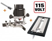 "TREND T5ELB 1/4"" Plunge Router 110V +Adjustable Lock Jig +Cutter +3yr Warranty"