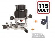 "TREND T5ELB 1/4"" Plunge Router 110V + Number Template + Cutter +3yr Warranty"