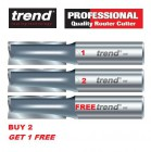 Trend 3/83DC Kitchen Worktop Router Cutter - BUY 2 GET 1 FREE - Two Flute 12.7mm dia x 50.0mm cut Extra Clearance 3/83DC